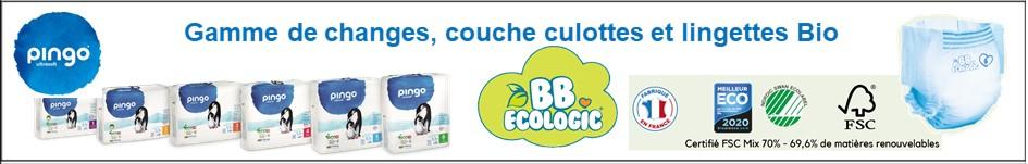 Gamme de changes et couche culotte bebe ecologic t Pingo chez lollipopspro.com
