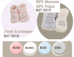 Chaussons Naissance Message